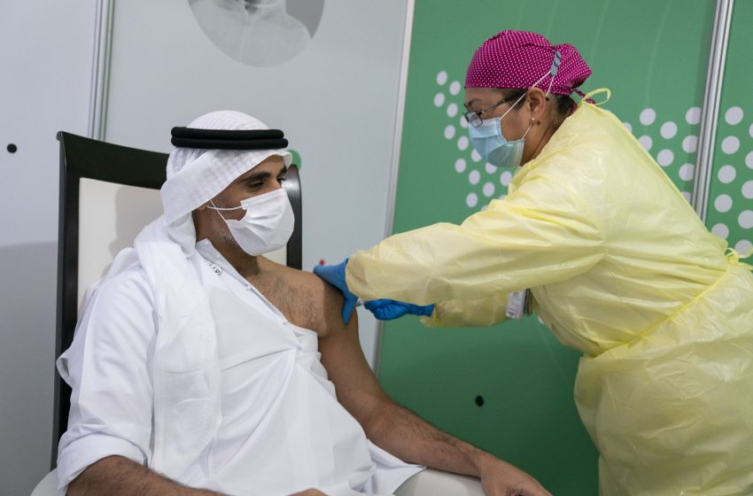 Shiekh Khaled receives Covid19 vaccine – 'UAE committed to frontliner safety'
