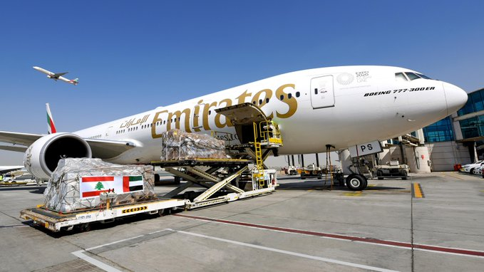 Emirates continues Beirut relief efforts, transports over 160,000 kgs of vital aid, supplies