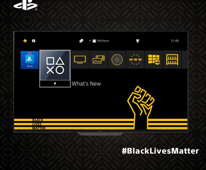 PlayStation roars 'Black Lives!' hits start on new BLM theme