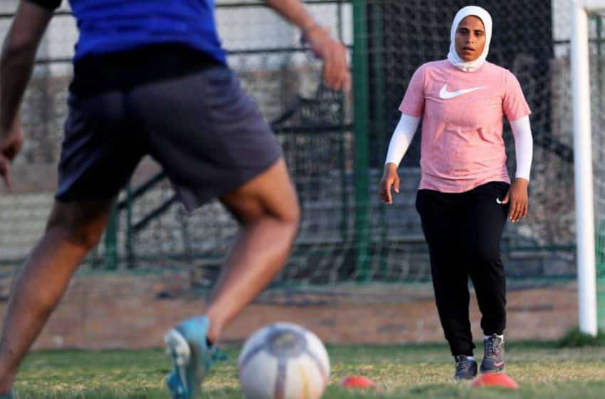 Egypt's first female coach in-charge of male teams steps up to the soccer turf