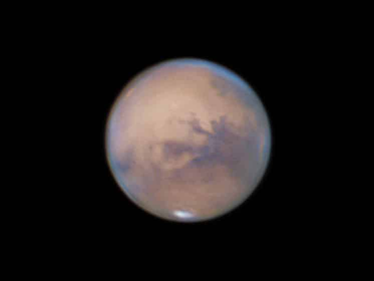 Close-up of the Mars at its opposition