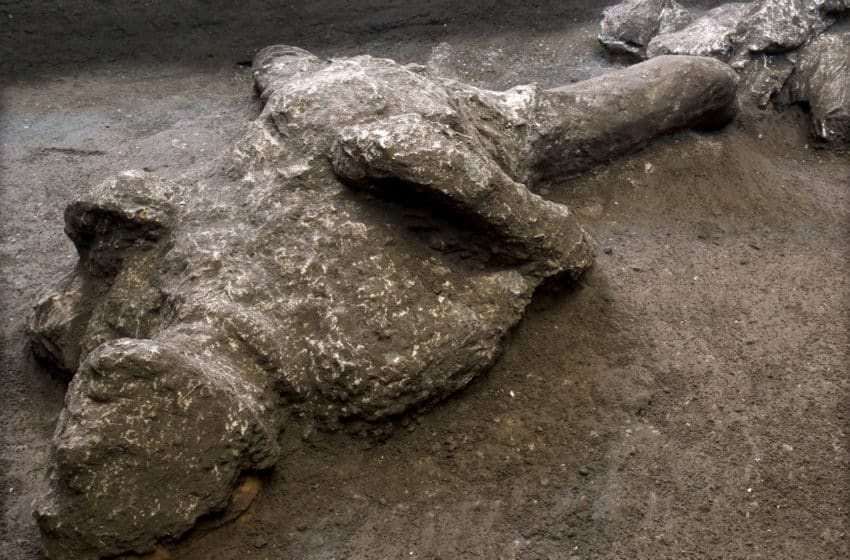 Two charred men: Ancient remains unearthed at Pompeii