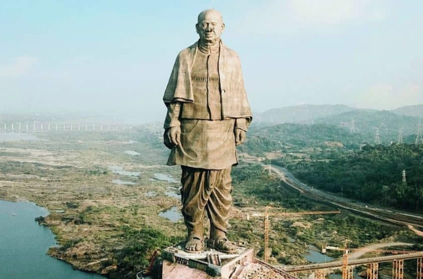 The Statue of Unity, largest worldwide, in Gujarat, India