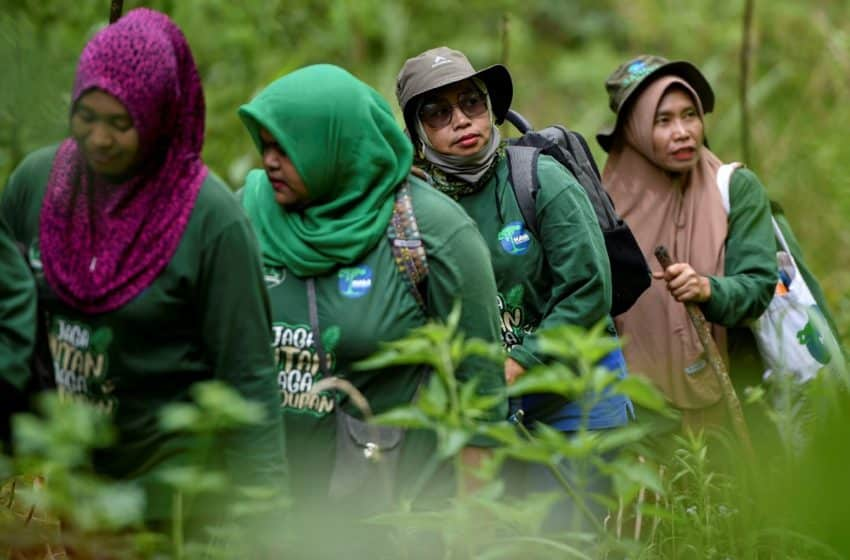 Indonesia's all-women forest warriors stand guard over Sumatran wildlife