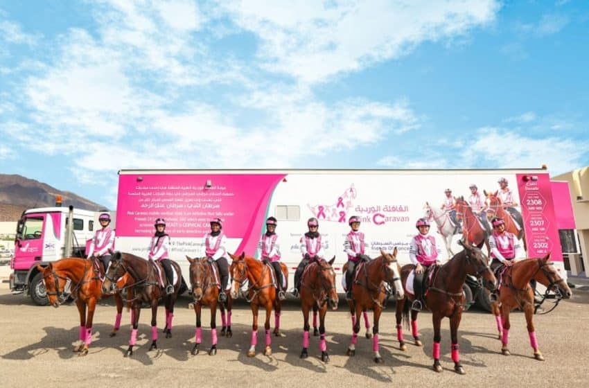 Army of pink clops in to wave flag on breast cancer awareness in UAE