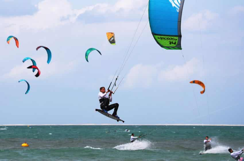 Kite boarders surf up a storm at Dubai beach