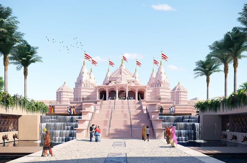 In Pictures: BAPS Hindu Mandir taking shape and setting the example of religious harmony, architecture, and grandness in UAE
