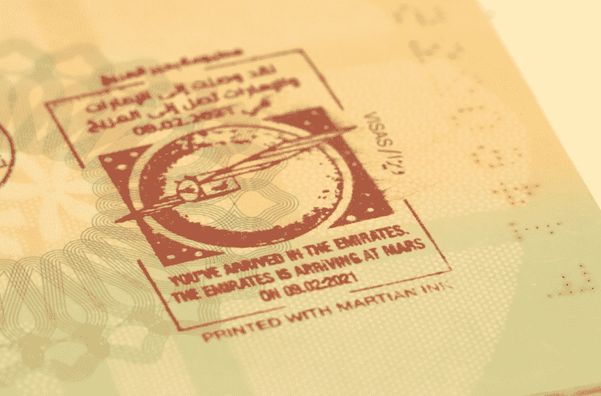 Stamp your Mars- UAE visitors to receive 'Martian Ink' passport stamp upon arrival