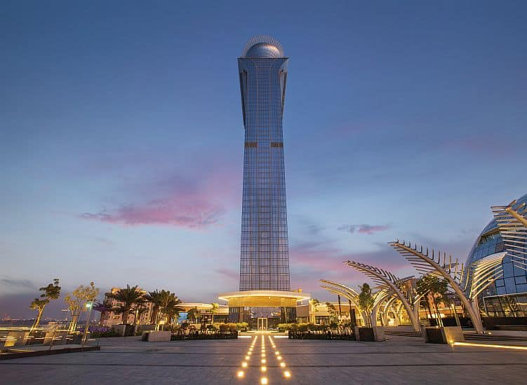 The Palm Tower, 52 story landmark project at Palm Jumeirah, is almost 95 percent completed.