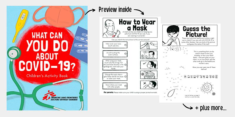 How do you explain the pandemic to a child? Doctors Without Borders' free activity book download now!