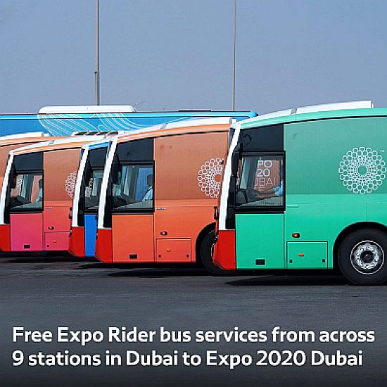 Free Expo rider buses for Expo visitors