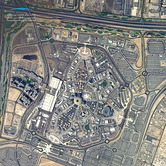 Expo 2020 photo from space