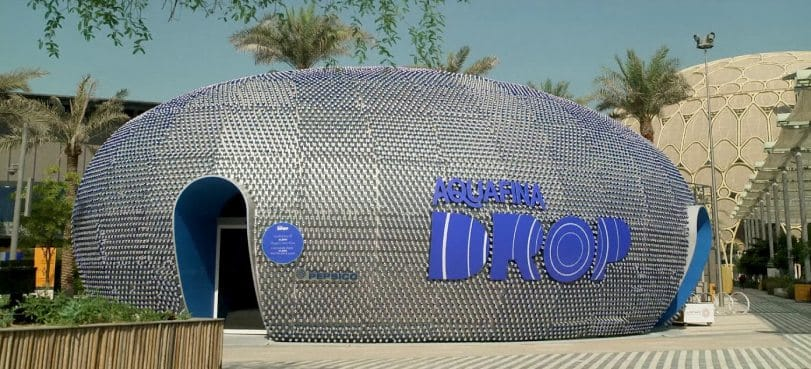 The Drop Pavilion — Spreading the sustainability message via recycled cans!