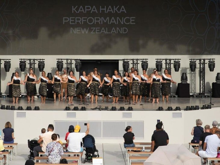 A special performance that brought New Zealand's Expo theme to life!