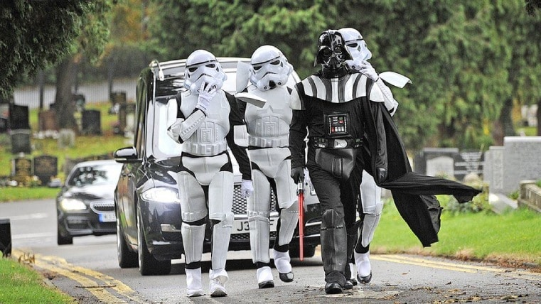 May the peace be with you: Star Wars-themed funeral